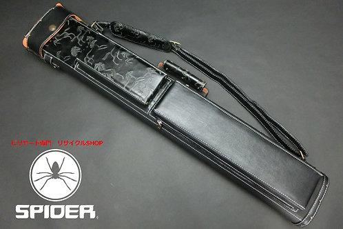 31477 使用少 J.Flowers ジェイフラワー ハードケース 3x6 黒本革 オレンジフェルト ケース SPIDER