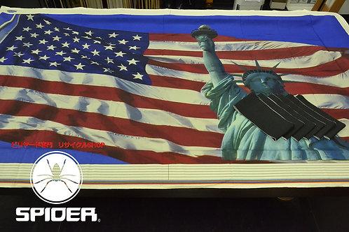 40677 デザイン ラシャ 星条旗・自由の女神 ビリヤード テーブルクロス ソノタ SPIDER