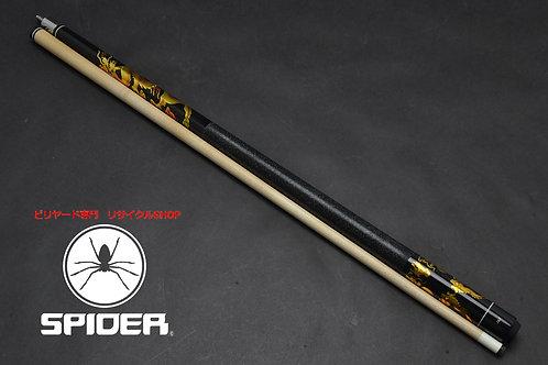 ◆11596 未使用 J&J プリント ゴールドドラゴン CUE SPIDER