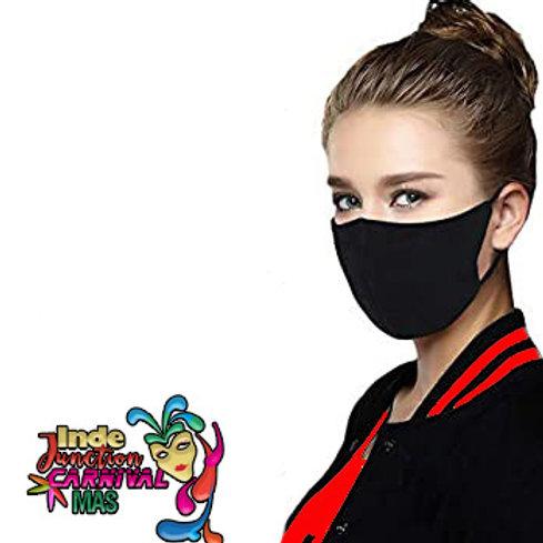 UNISEX Black Face Mask with Trim