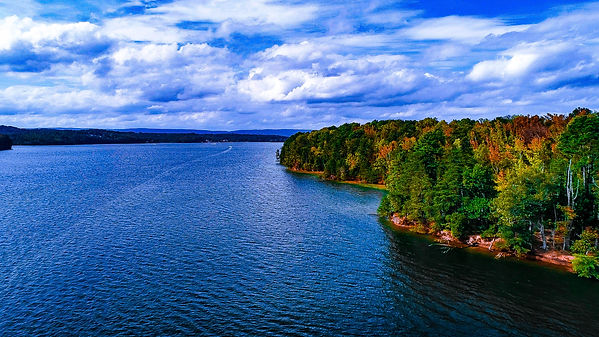 Harrison Bay Tennessee Lake color graded landscape photograph.