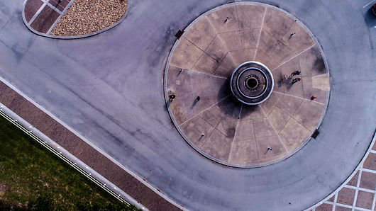 Beautiful Aerial Straight Down Facing Photograph
