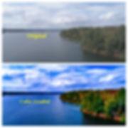 side by side color grading comparison photograph