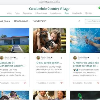 Blog Condomínio Country Village