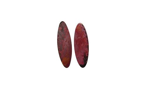 Earrings bright patterned dark size L