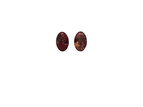 Earrings bright patterned dark size M