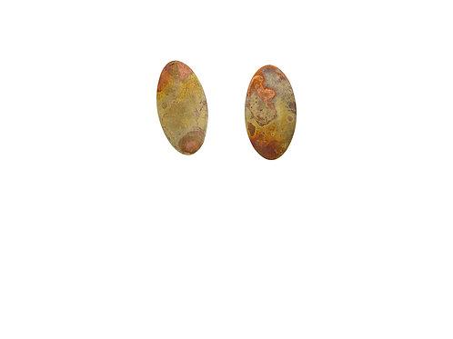 Earrings bright patterned light size M