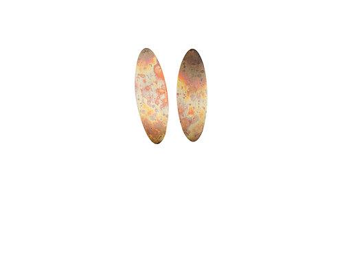 Earrings bright patterned light size L