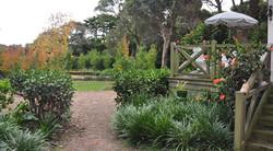 Overlooking the grand garden