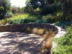 Organic inspired stone wall