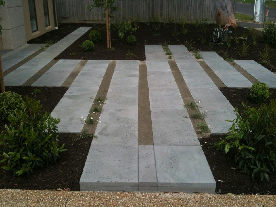 Contemporary paving detail