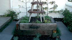 Recycled timber in a cottage setting