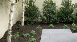 Freshly planted formal garden