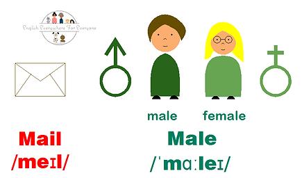 Mail VS male