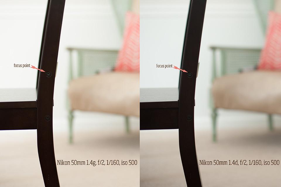 Nikon 50mm 1.4d vs 1.4g