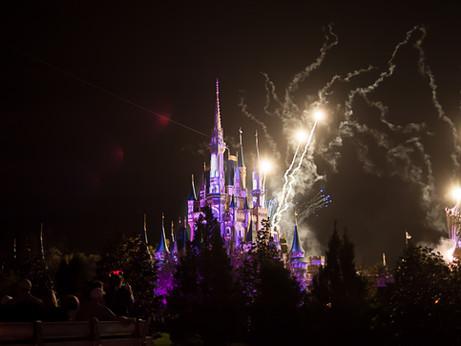 Disney World!   Fireworks at Magic Kingdom