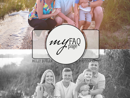 FAQ | Holly Butler Photography