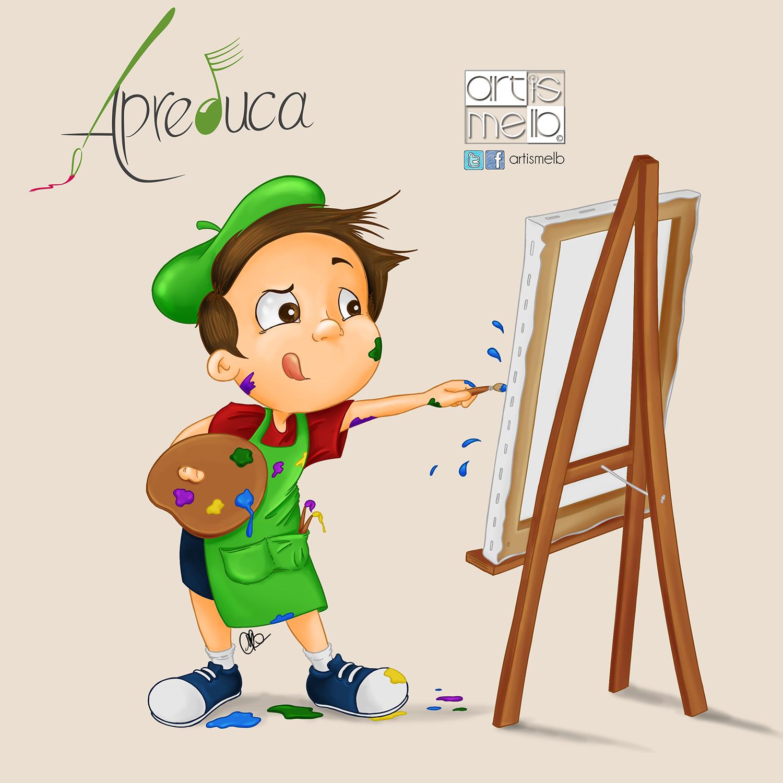 Niño con pintura