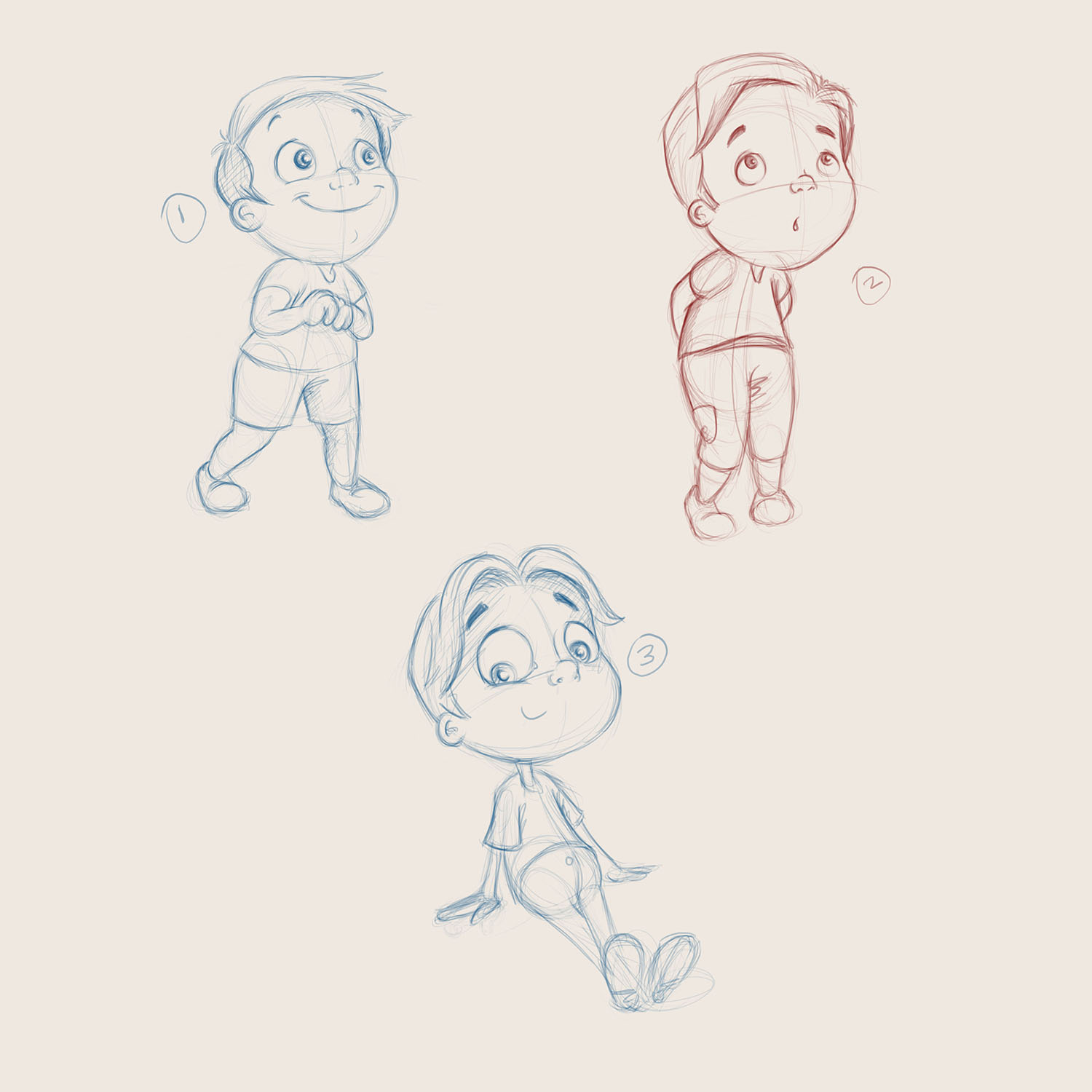 Boy sketches