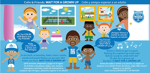 Bilingual Board Book: Colin & Friends Wait For A Grown Up