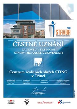 Stavba MSK, čestné uznání, STING