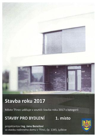 Cena za stavbu roku 2017