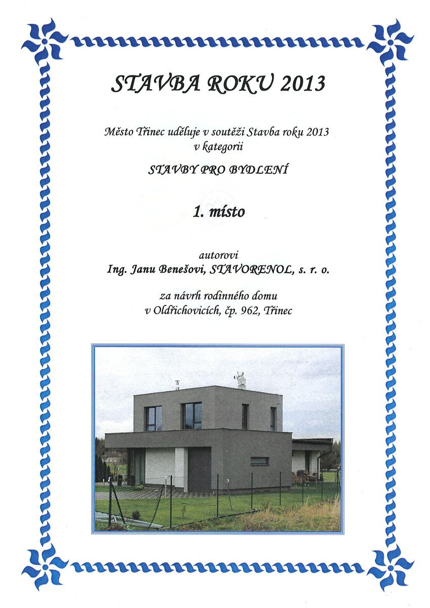Stavba roku Třinec, RD Oldřichovice