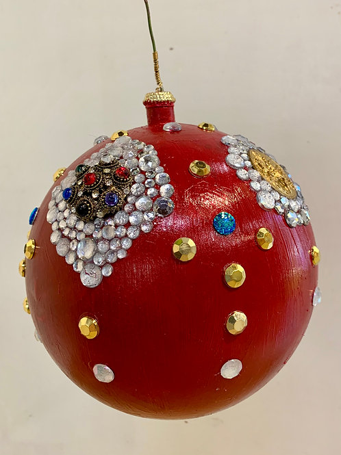 Large Red Crystal Ornament