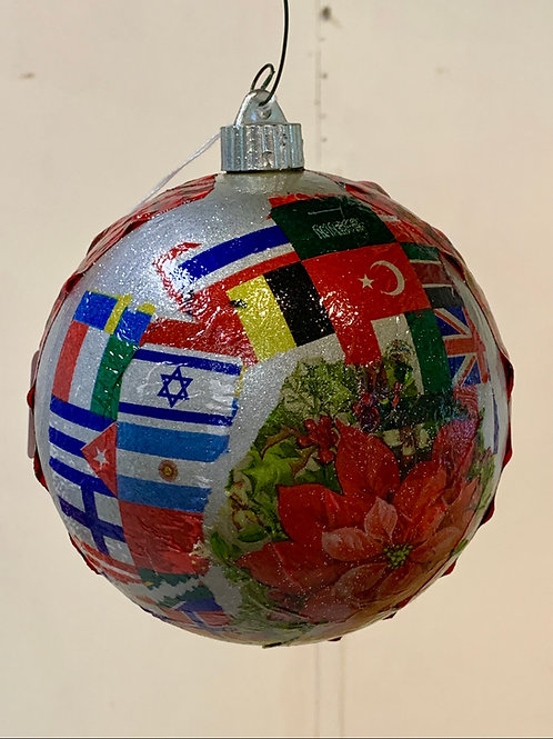 World Collage Ornament
