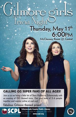 SCPL Gilmore Girls Trivia Poster