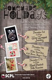 SCPL Holiday Craft Program Poster