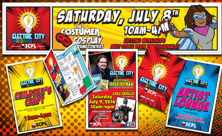 SCPL ELECTRIC CITY COMIC CON Promotional Material