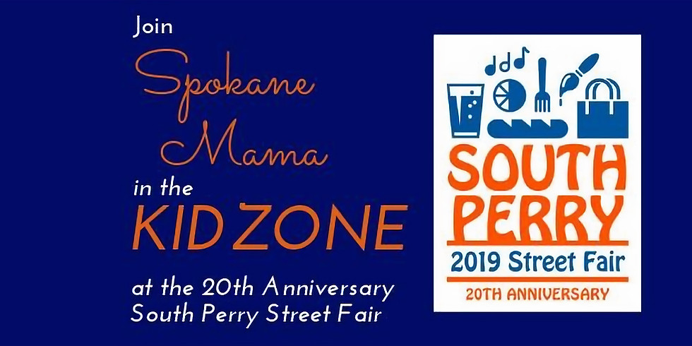 The Kidzone at the South Perry Street Fair