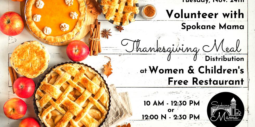 Volunteer with Spokane Mama at Women & Children's Free Restaurant