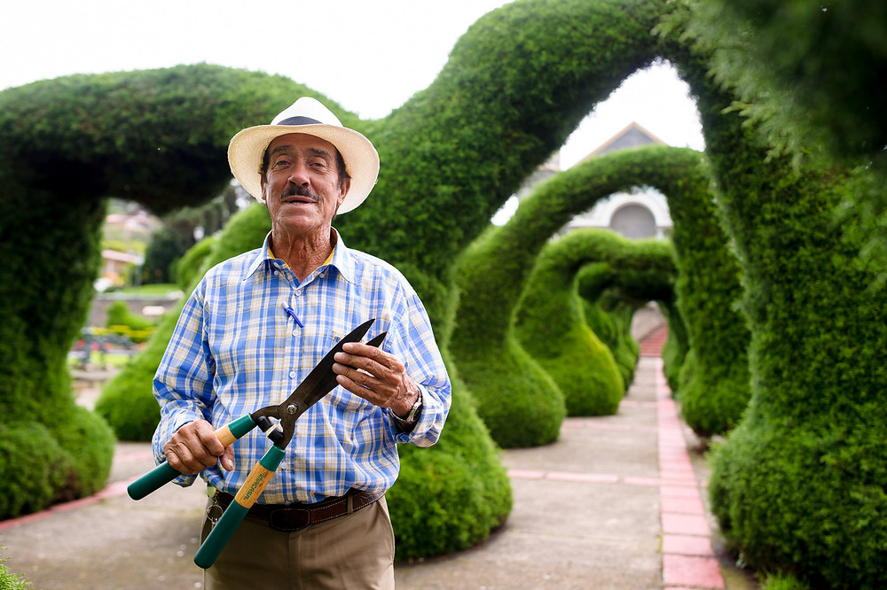 Don Evangelista of Zarcero's topiary gardens