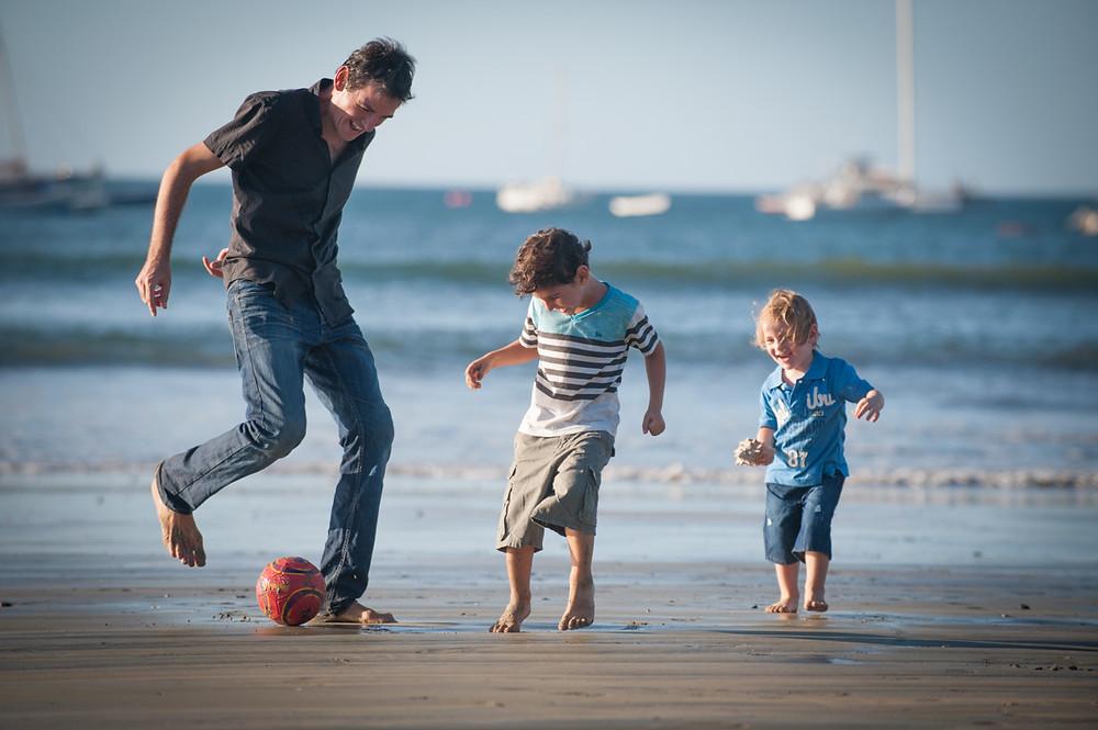 how to get better beach portraits, Costa Rica family photos
