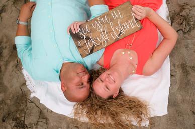 Cute wedding sign on the beach in Playa Tamarindo, Costa Rica