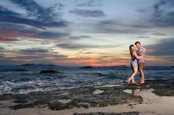 Costa Rica engagement photos beach