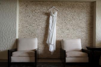 Costa Rica Wedding Dress Hanging