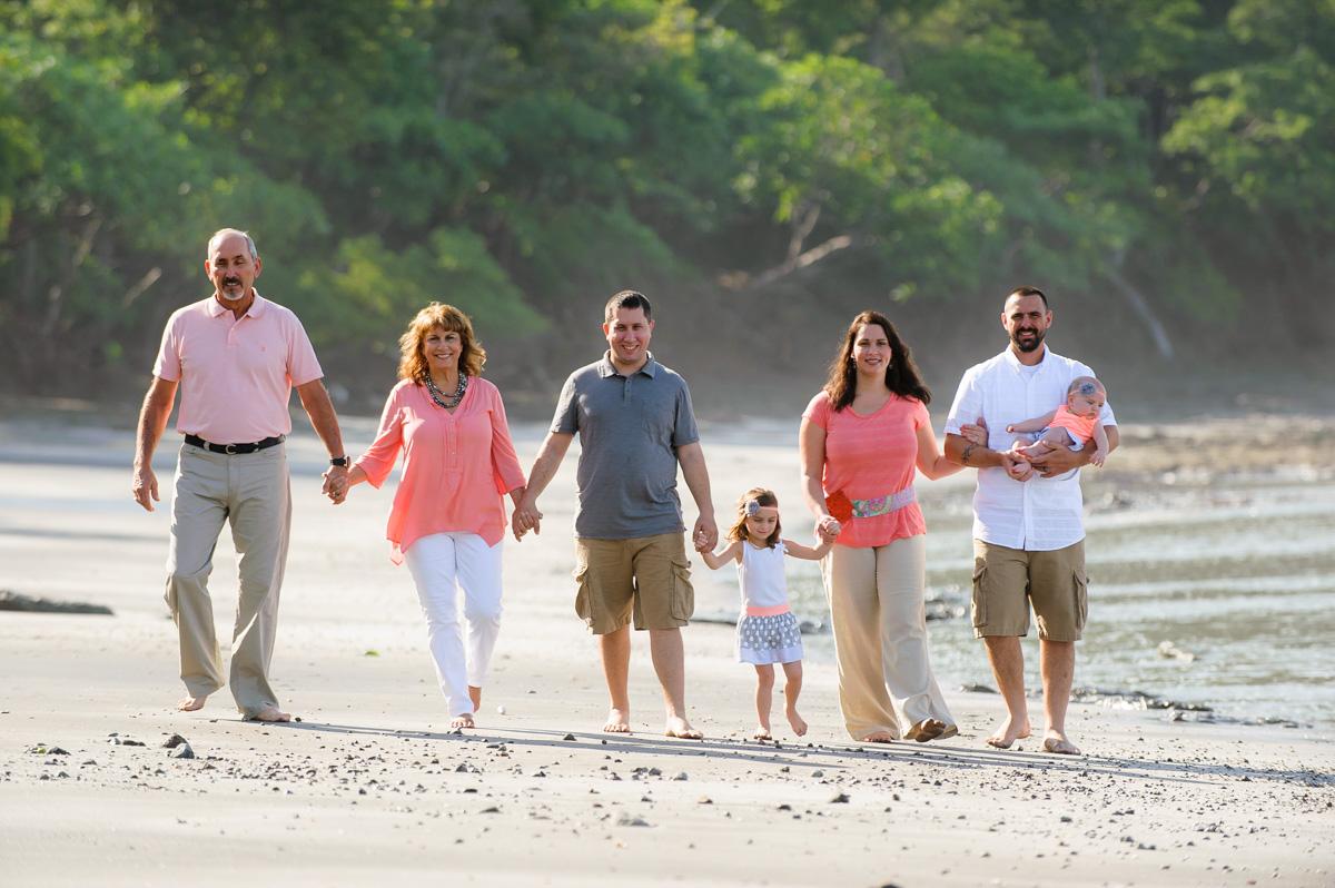 Family Photos at Playa Danta Beach