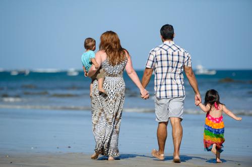 Costa Rica Family Photos at Beach