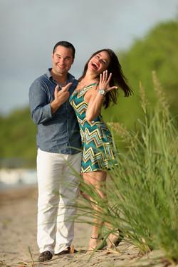 Costa Rica surprise engagement photo