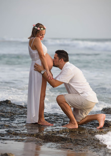 Maternity photos at the beach in Costa Rica