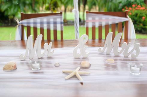 Costa Rica wedding centerpiece table decor