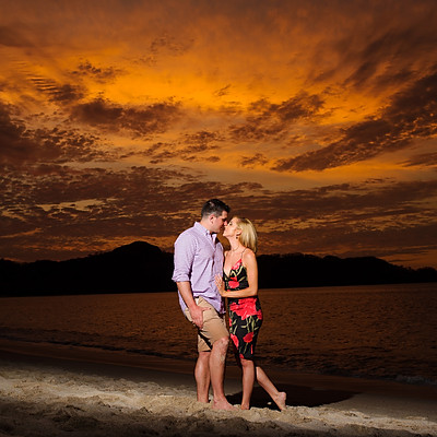 Playa Conchal Surprise Engagement