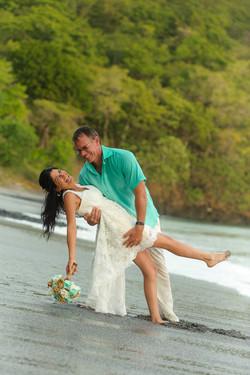 Sunset beach wedding Sugar Beach