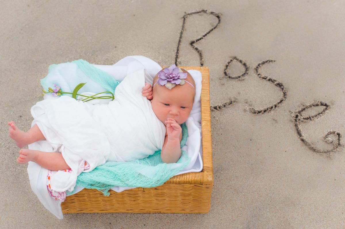Costa Rica beach newborn photography