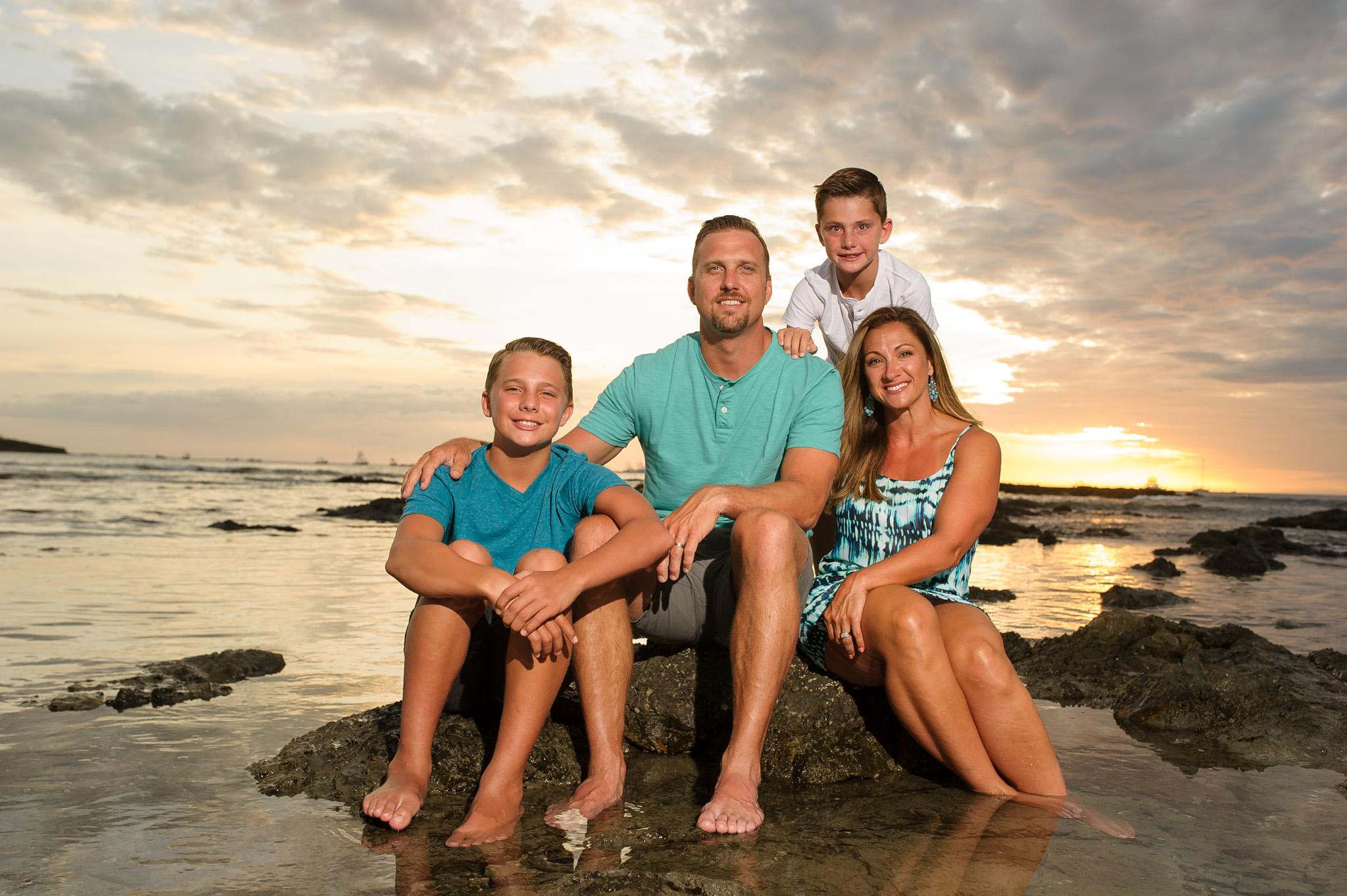 Family photos costa rica travel