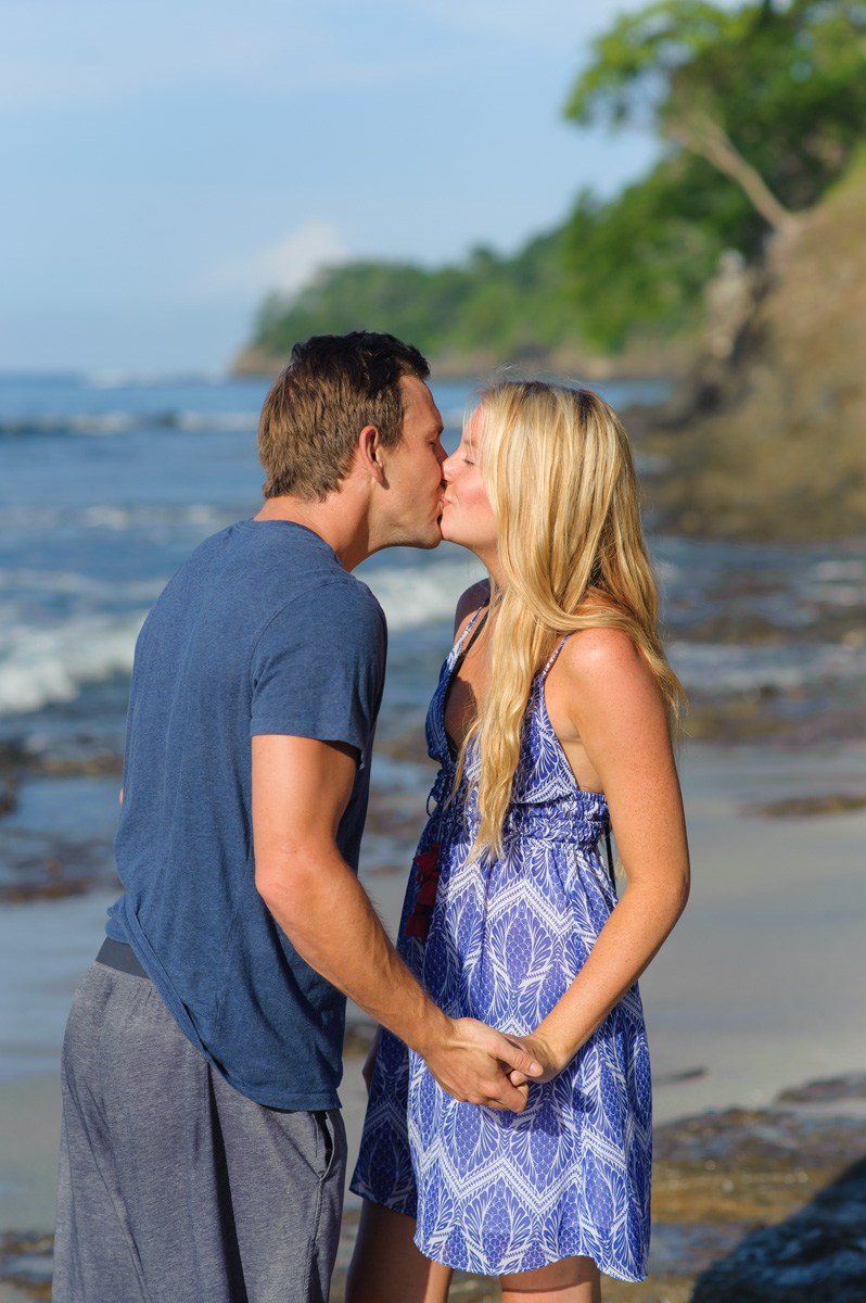 Surprise engagement beach Tamarindo