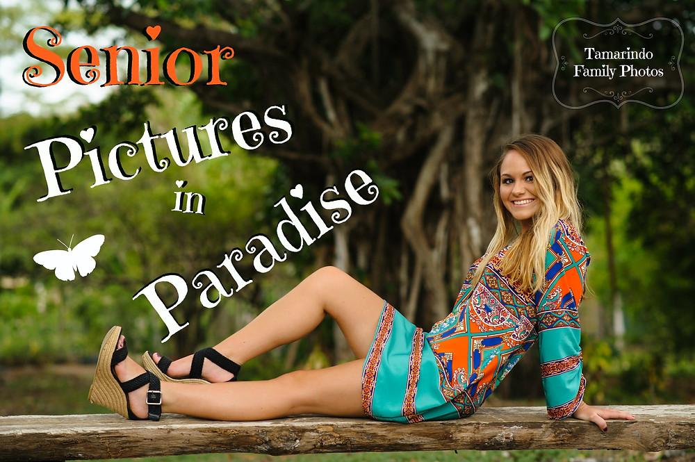 Senior portraits in Costa Rica ideas